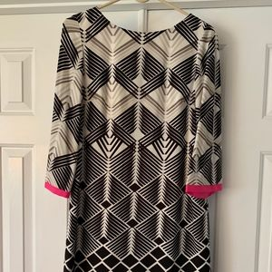 Dress, shift dress with 3/4 sleeve,  fully lined